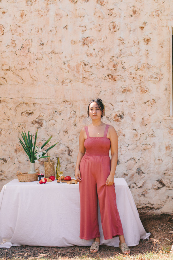 Mila Jumpsuit in Dusty Rose