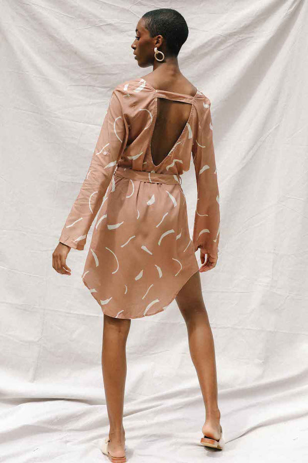 Midori Dress in Clay