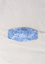 Moroccan Tile Navy Face Mask