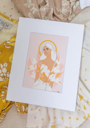 Surprise Cleo Dress + Art Print