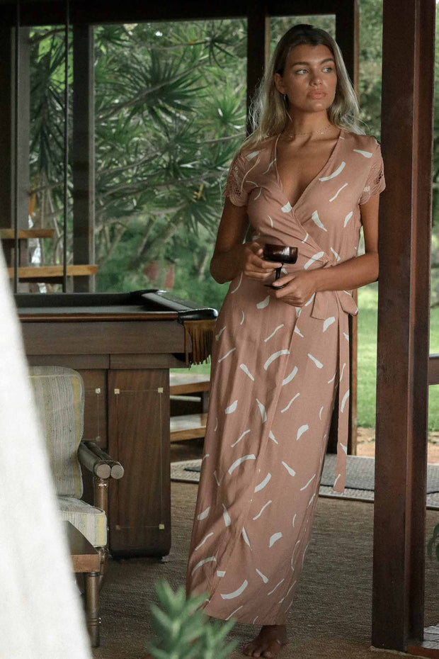 Isabella Wrap Maxi in Clay
