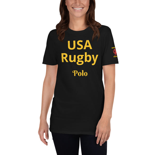 Short-Sleeve Unisex T-Shirt (USA Rugby) By Dafydd Llewelyn Dragon Friendly