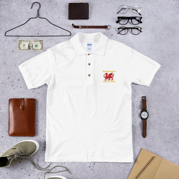 Embroidered Polo Shirt Gildan 3800 (Dafydd Llewelyn Dragon Friendly)