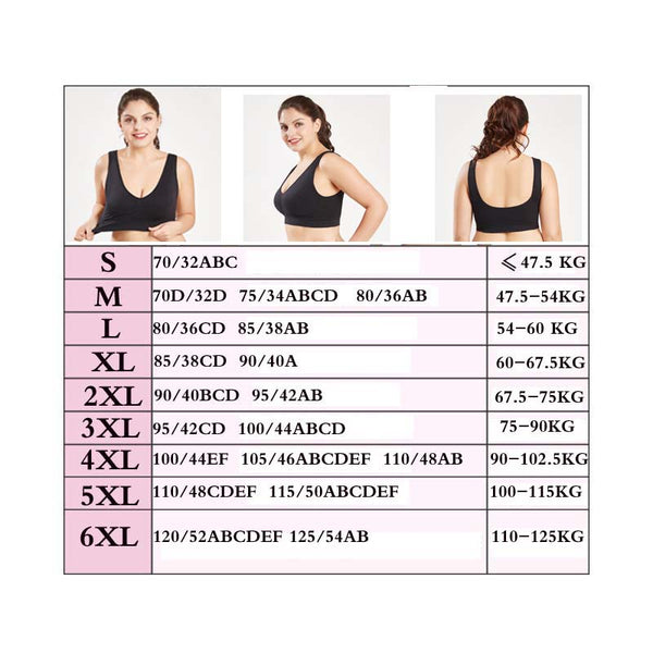 3PCS/Plus Size Bras For Women Seamless Bra With Pads Big Size 5XL 6XL Bralette Push Up Brassiere Vest Wireless BH