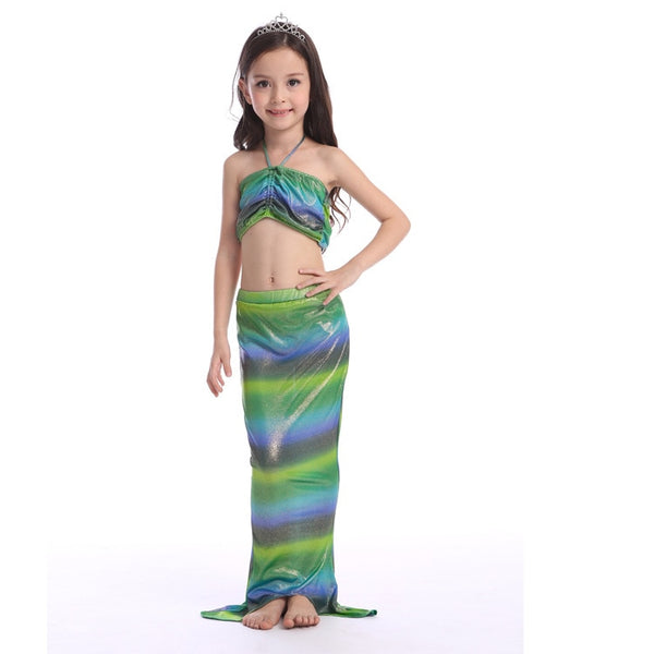 Girl 3pcs/set Mermaid Swimsuit Two-Pieces Girls Bikini Swimwear