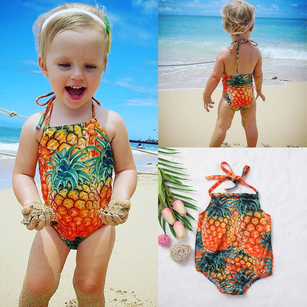 Girls One Piece Swimsuit for Toddlers Kids Baby Girls Pineapple Swimwear