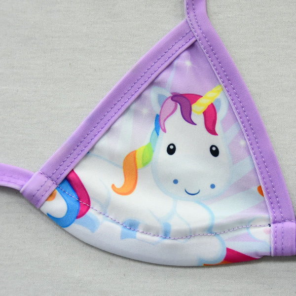 2019 Unicorn Girls Swimsuit 3-12 Years Two Piece Children's Swimwear/Girls Bikini Set