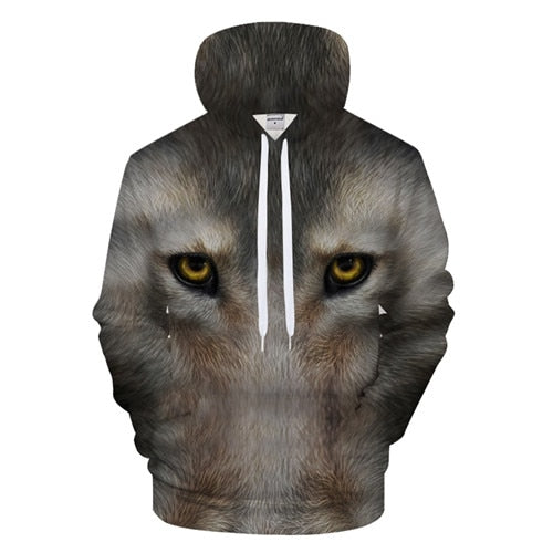 Men Designer 3D Casual Hooded Sweatshirt