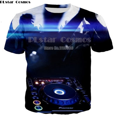 T-Shirt Disco Musical instrument Printed in 3D for Women & Men