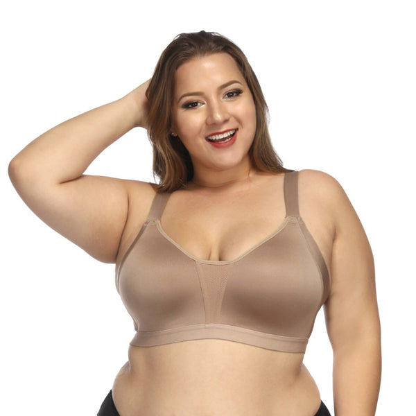 Women's Plus Size Seamless Active Lifestyle Full Coverage Bra