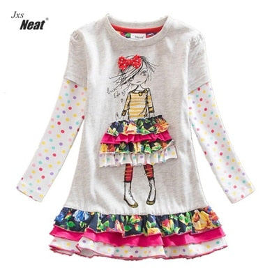 NEAT: Young Girl's Round Collar Floral Dress