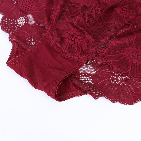 3Pcs/Women High-Rise Sexy Lace Underwear