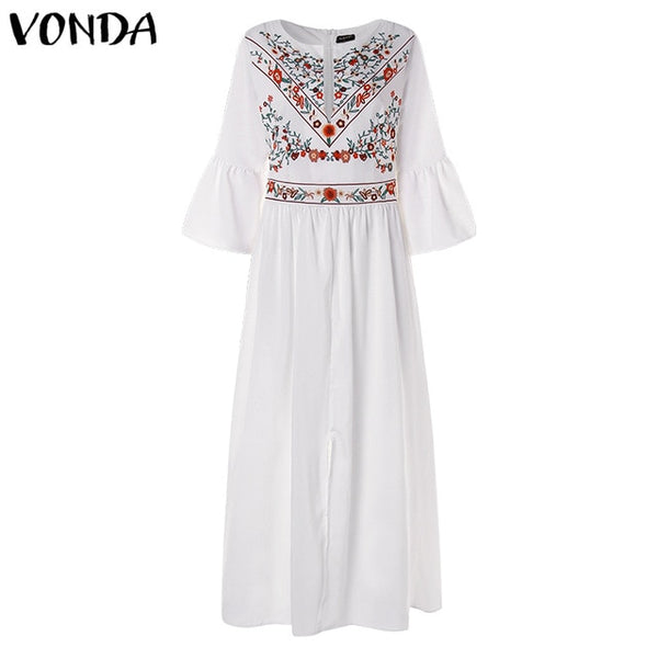 Women Bohemian Printed Party Dress (Available Plus Size) Vestido de fiesta disponible en talla grande