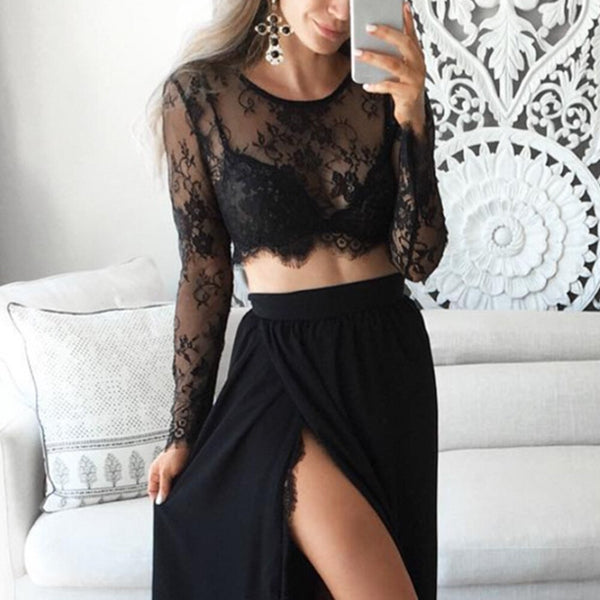 1PC Seamless Arm Shape Sleeve Wonders Women's Lace V-neck Perspective Cardigan