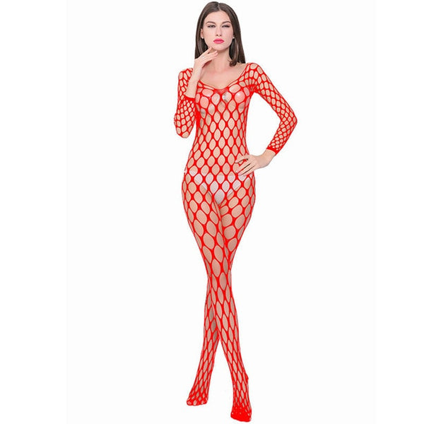 Sexy Sheer Mesh Fishnet Tights Body Stockings/Women Erotic Lingerie
