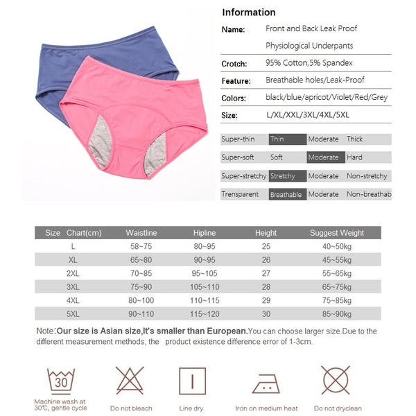 3pcs Leak Proof Panties