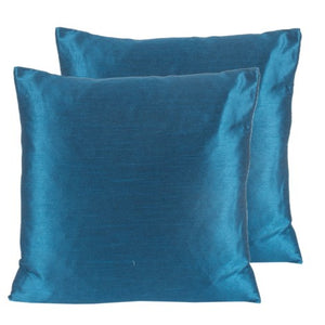 Blue Silk Feather insert lavish pillow with washable cover made in Canada