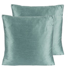 Green Silk Feather insert lavish pillow with washable cover made in Canada
