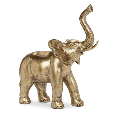 Gold Trunk Up Elephant