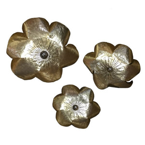 METAL FLOWER WALL DECOR