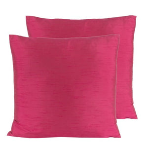 Magenta Feather insert lavish pillow with washable cover made in Canada