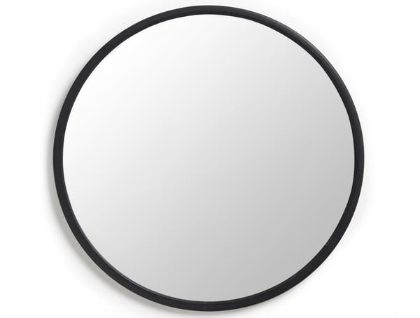 Round Rubber Wall Mirror 37""