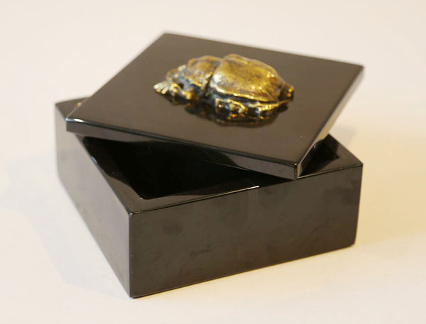 Artisan Made Black Marble Box