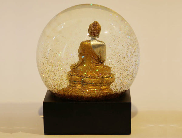 Buddha Snow Globes in Gold