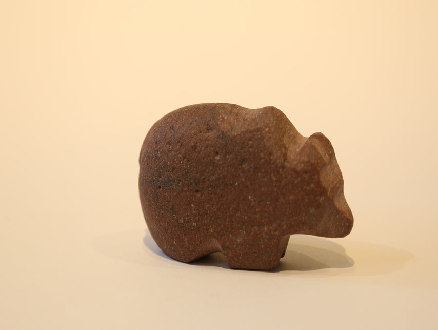 Hand Carved Stone Fetish Animal – Red Bear