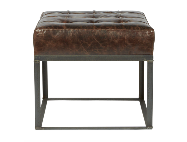 Cisco Brothers Cruz Ottoman in Leather