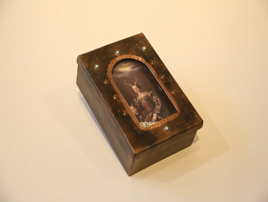 "Kinetic ""Deer Mother"" Reliquary Box"
