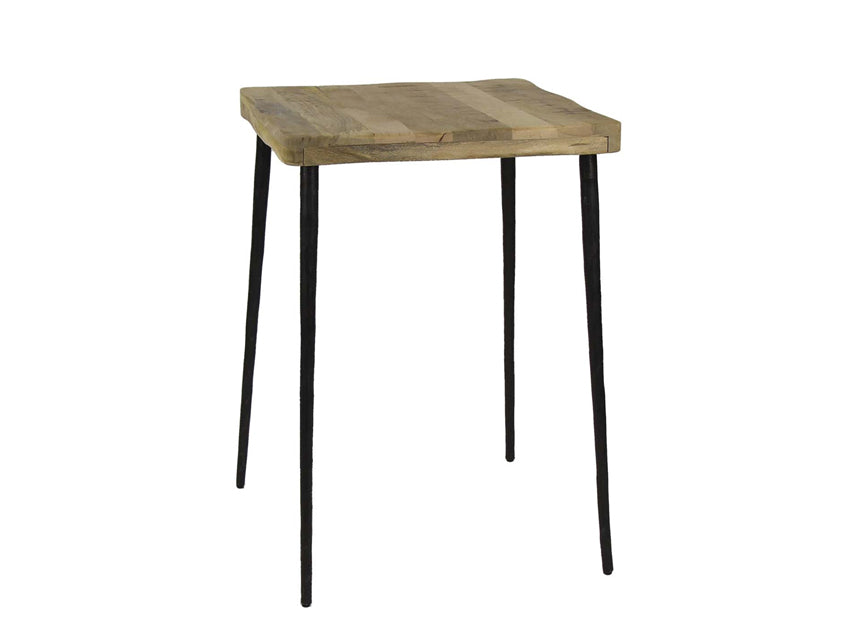 Hammered Mango Wood Cafe Table