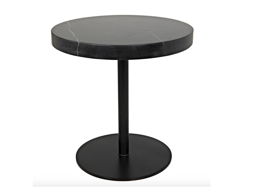 Low Stone Top Side Table
