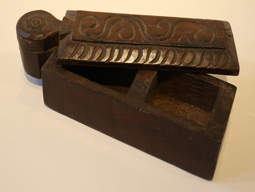 Medium Vintage Wooden Box from India
