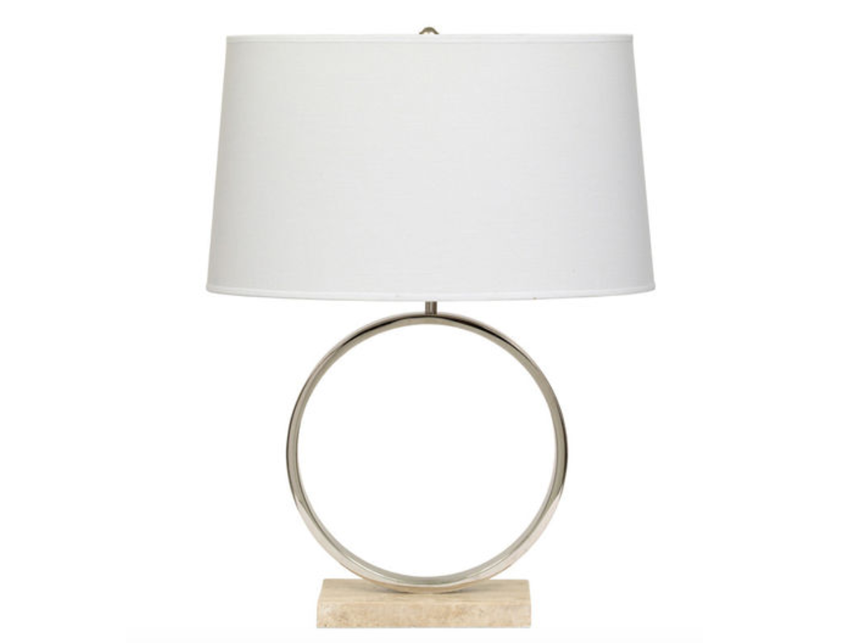 Mitchell Gold + Bob Williams Table Lamp Travertine Marble Base