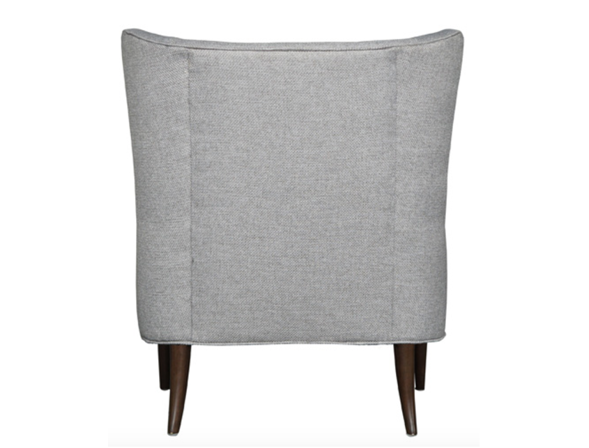 Modern Wing Chair in Brushed  Pewter