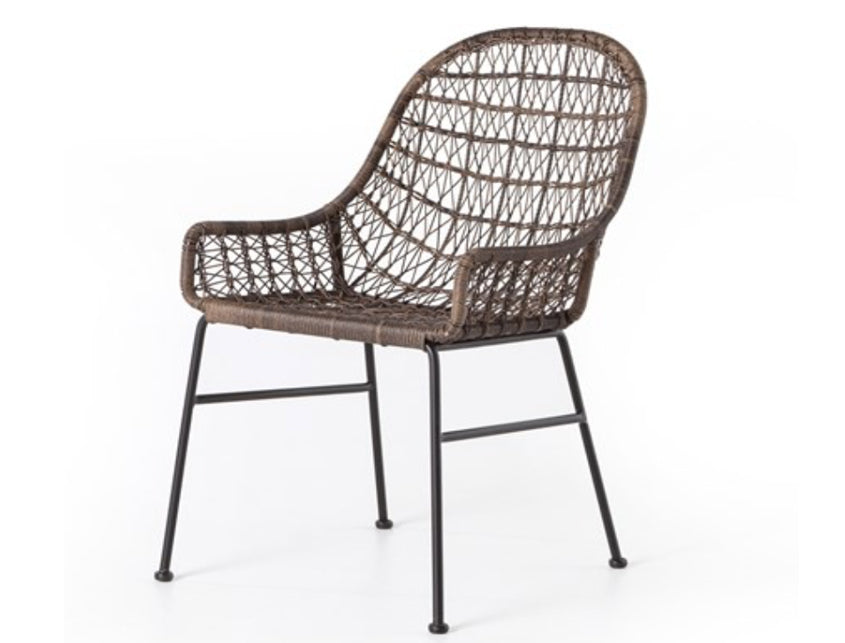 Outdoor Woven Chair Grey