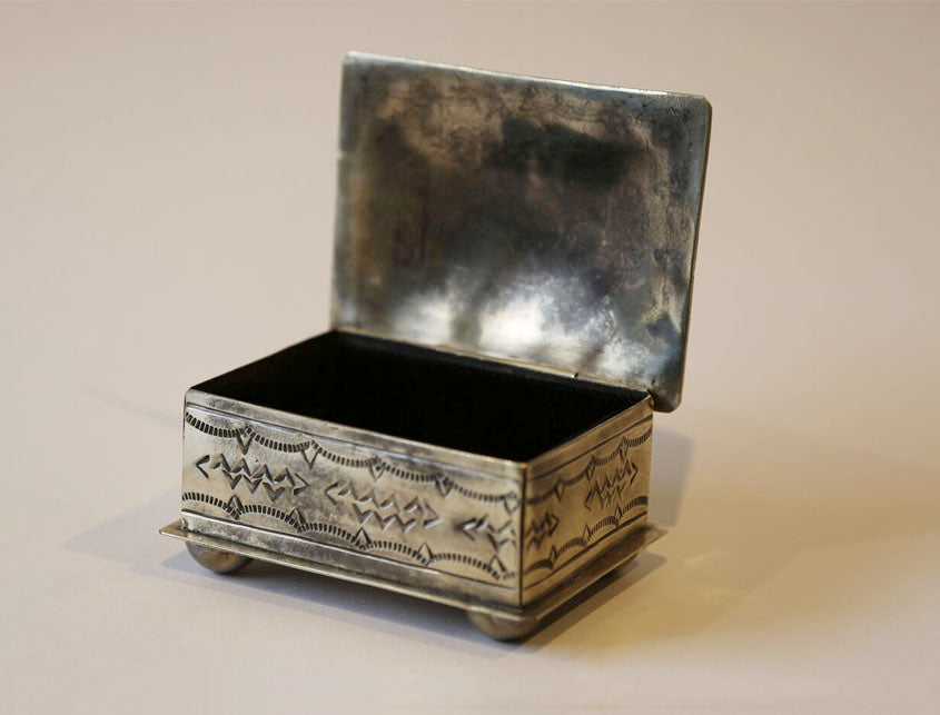Stamped Pewter Treasure Box