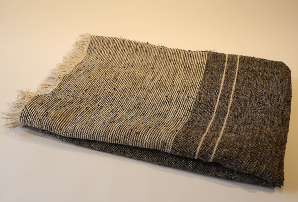 Linen/Cotton Blend Chunky Tweed Throw