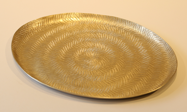 Lux Metal Oval Embossed Trays