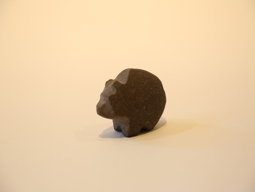 Small Hand Carved Stone Fetish Animal – Black Bear