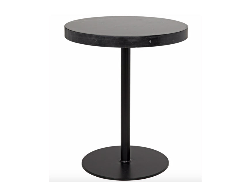 Tall Stone Top Side Table