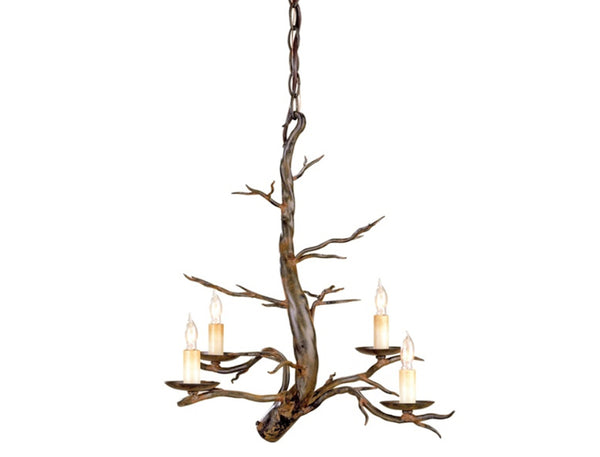 Faux Bois Chandelier Small