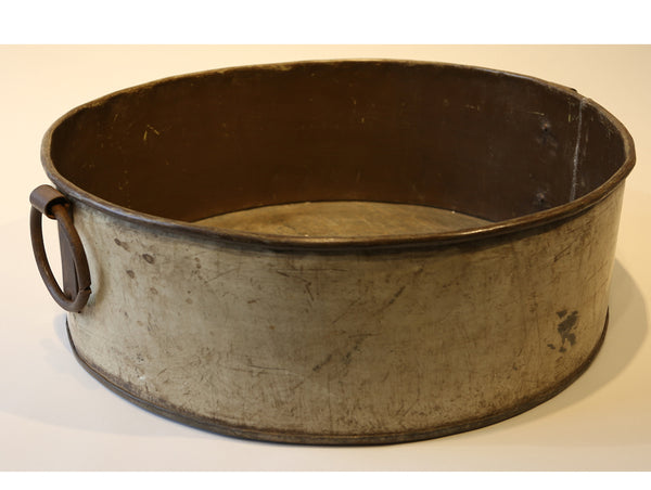 Large Painted Vintage French Iron Vessel w/Side Handles