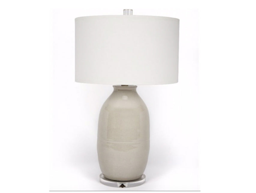 Ceramic Lamp in Gray