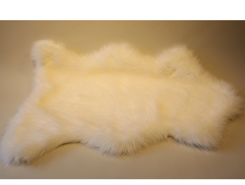 Faux Fur Throw/Rug White