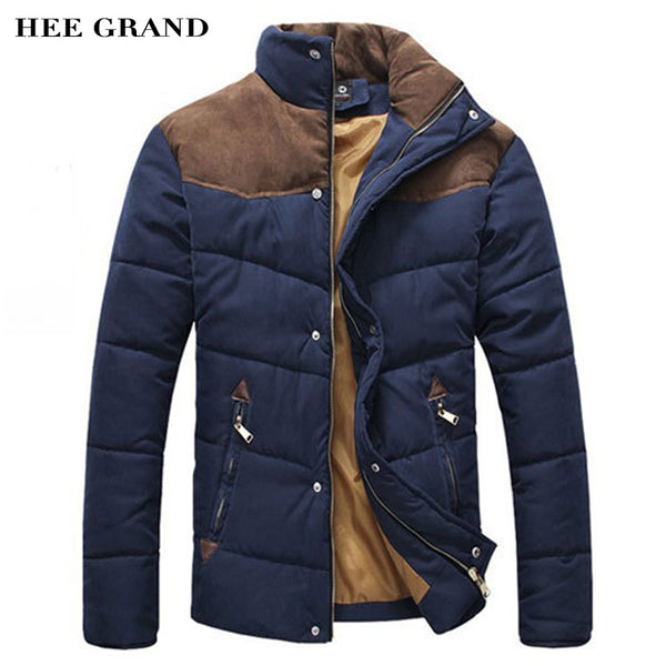 HEE GRAND 2018 Hot Sale Men Winter Splicing