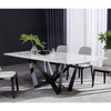 Wex Black Marble Table - mhomefurniture
