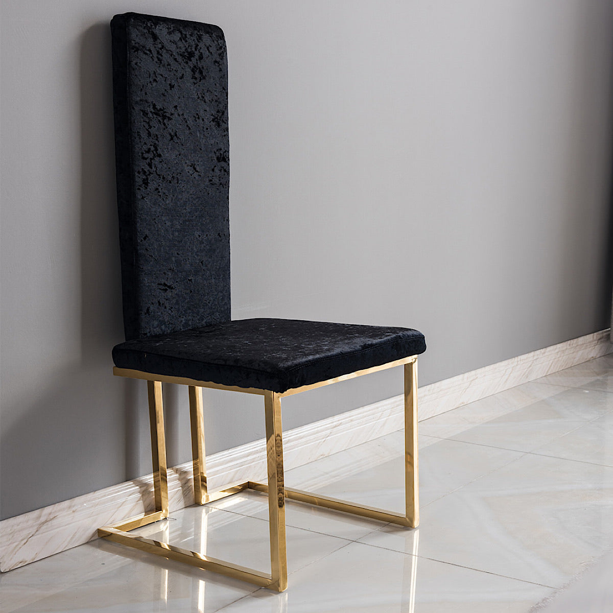 Deus Black Chair - mhomefurniture