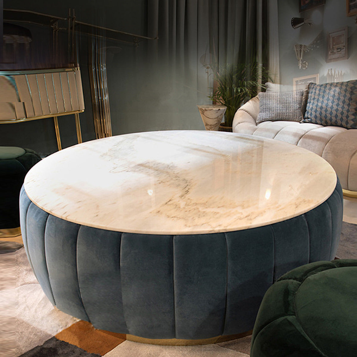 Royce Marble Coffee Table - mhomefurniture